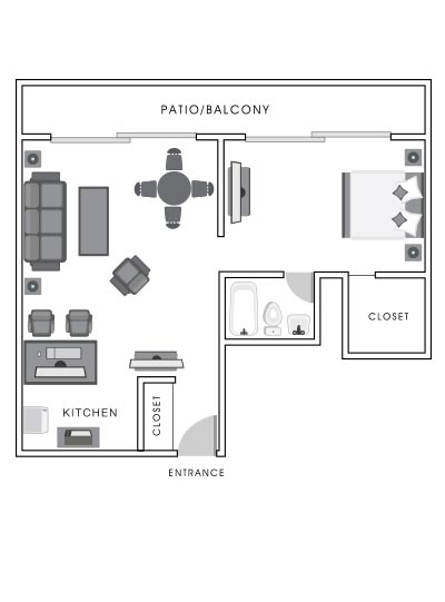 Garden View Suite floor map