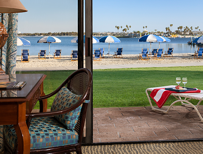 Bay Front Room looking out to Mission Bay