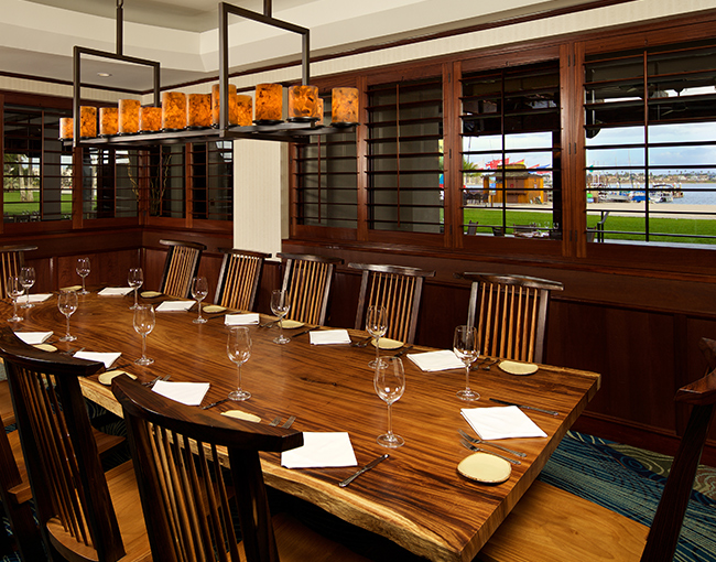 Private Dining Room overlooking Mission Bay