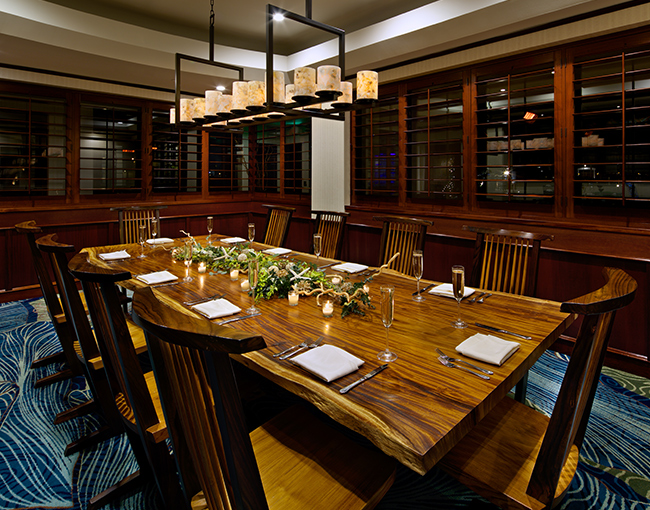 Private dining seats up to 14 at Oceana Coastal Kitchen