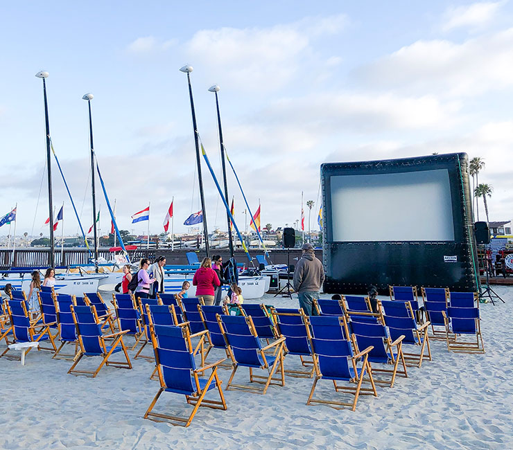 Movies on the Bay at the Catamaran Resort Hotel, San Diego