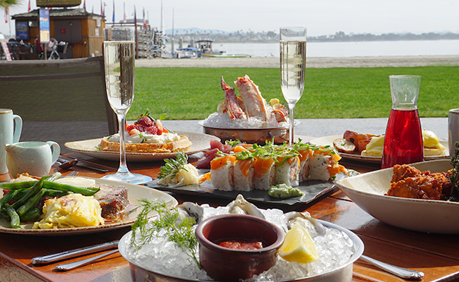 Oceana Coastal Kitchen Brunch on Mission Bay