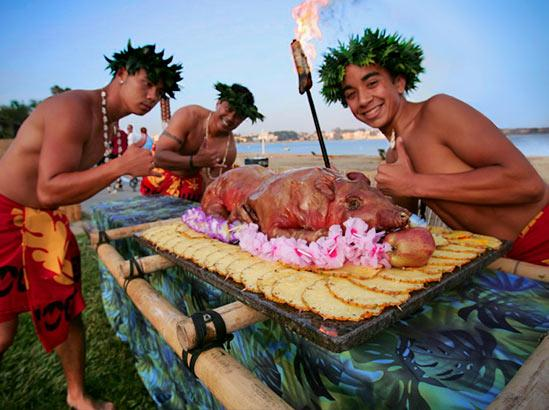 Summer Sunset Luau at the Catamaran Hotel