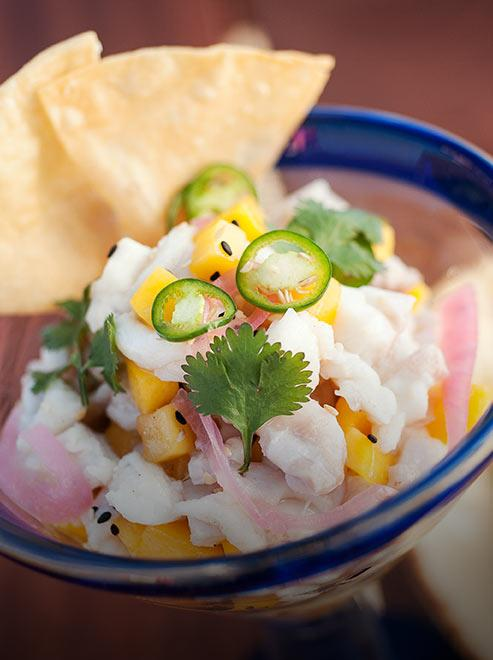 Shrimp Ceviche close up